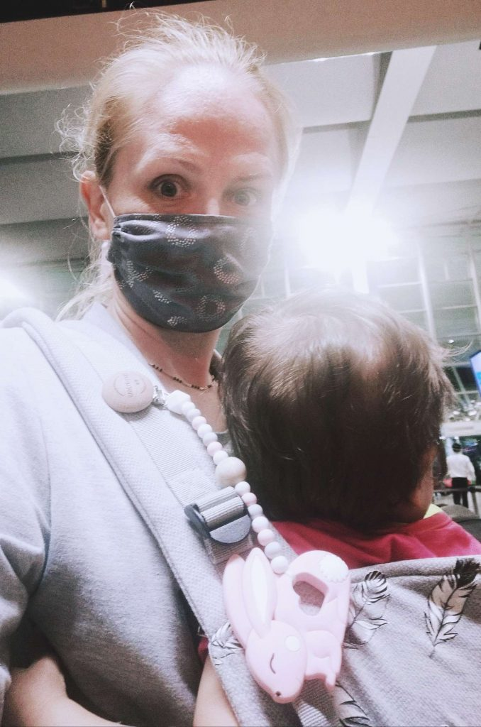 Flying with Babies during Pandemic Airport