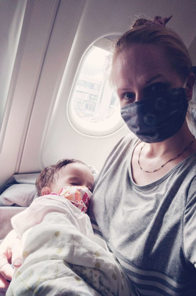 Flying with a Baby during Covid baby face mask
