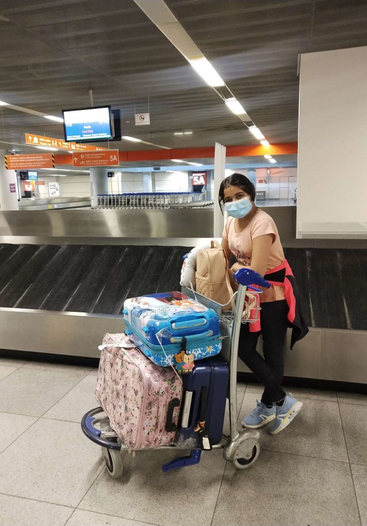 Flying with a Teenager Arrival