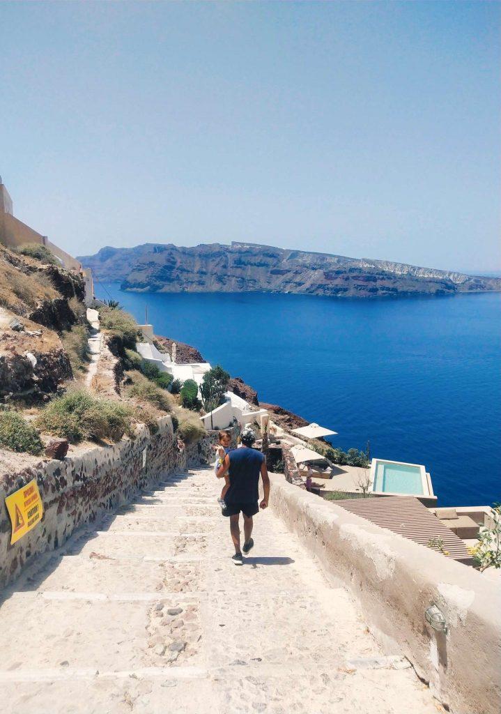 Stairs in Santorini Oia